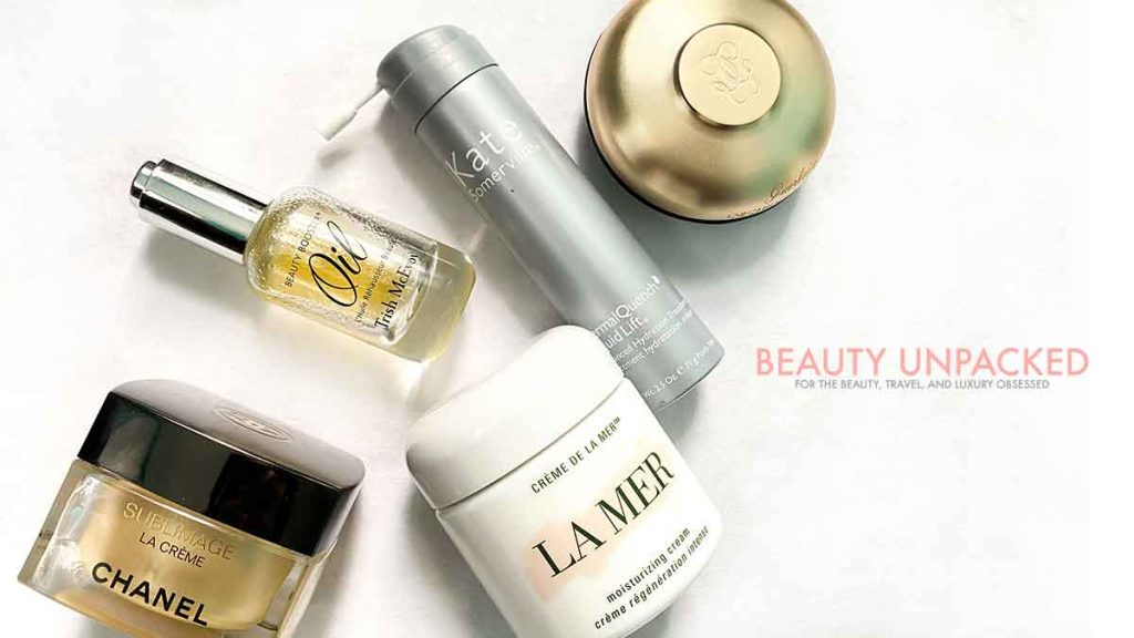 Image by Beauty Unpacked, Angela Malicki personal collection. La Mer, Chanel Sublimage and Guerlain Orchidee